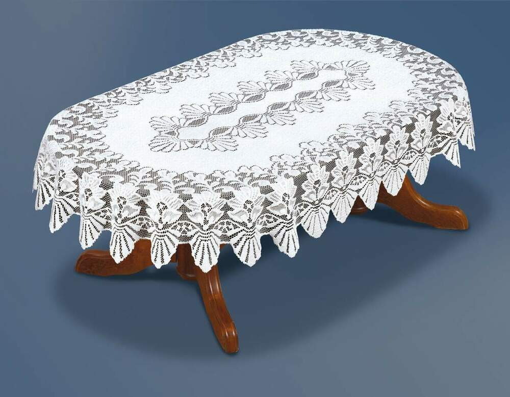 Oval Lace White Tablecloth New 51 Quot X 71 Quot 130x180cm