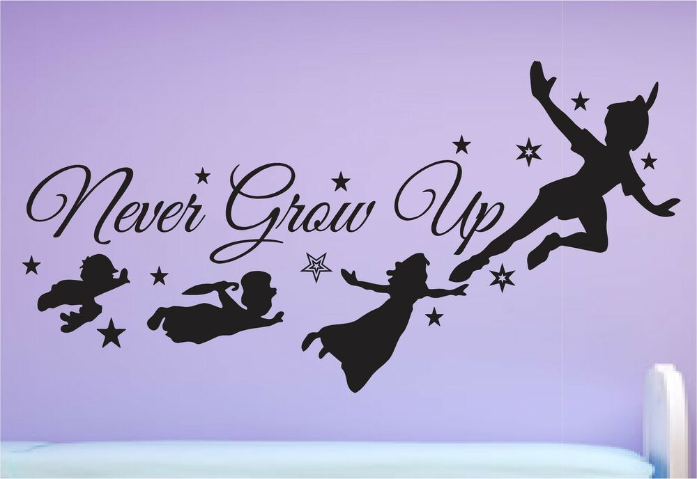 PETER PAN Wall Art Quote, Wall Sticker, Vinyl Transfer ...