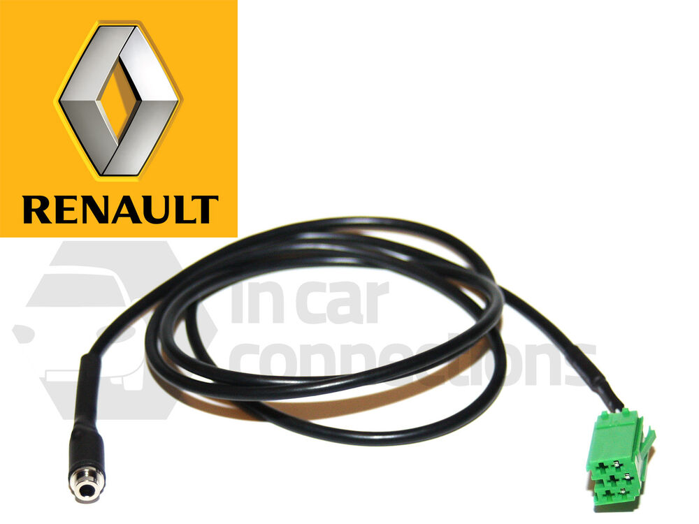 renault aux lead female jack input cable ipod android sony htc update list ebay. Black Bedroom Furniture Sets. Home Design Ideas