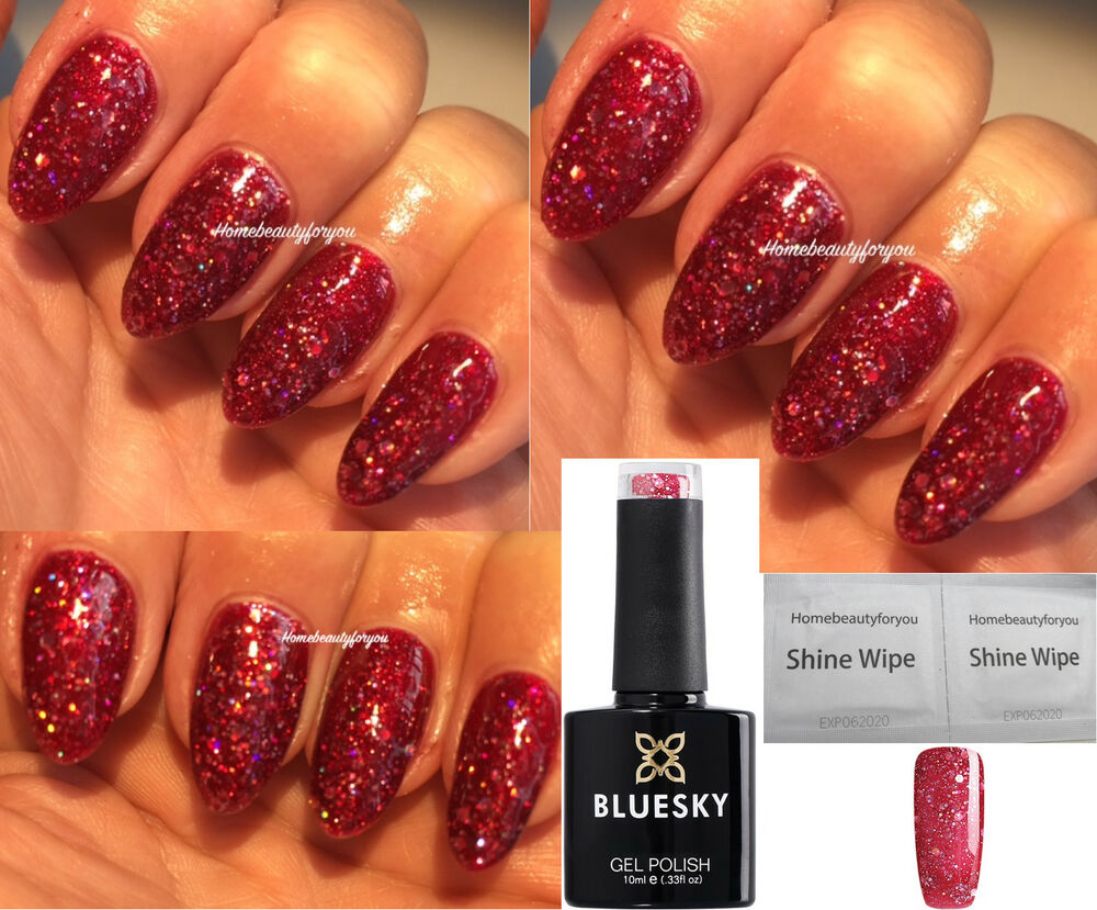 Red Sparkle Gel Nail Polish - Nails Gallery