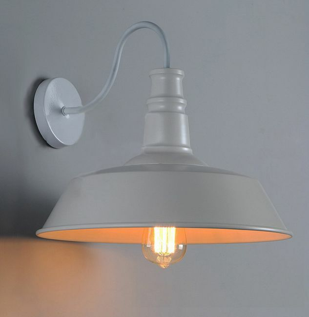 Diy Wall Light Cover : Nice Industrial Wall Lamp Metal Cover Light DIY Lighting Home Cafe Restaurant eBay