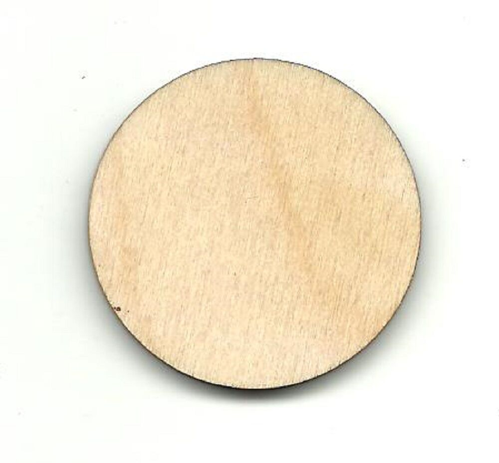 Basic circle unfinished wood shapes craft supply laser cut for Craft supplies wooden shapes