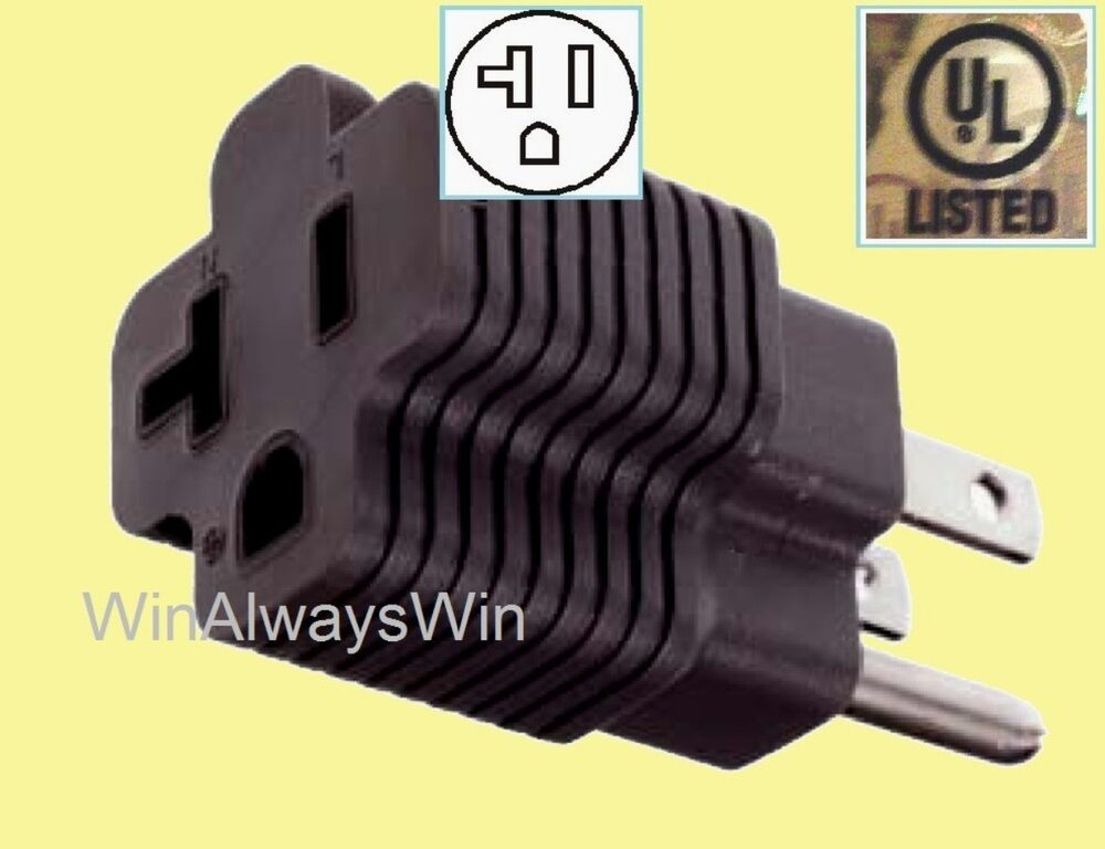 20 Amp To 15amp Power Plug Adapter 20a Straight T Blade