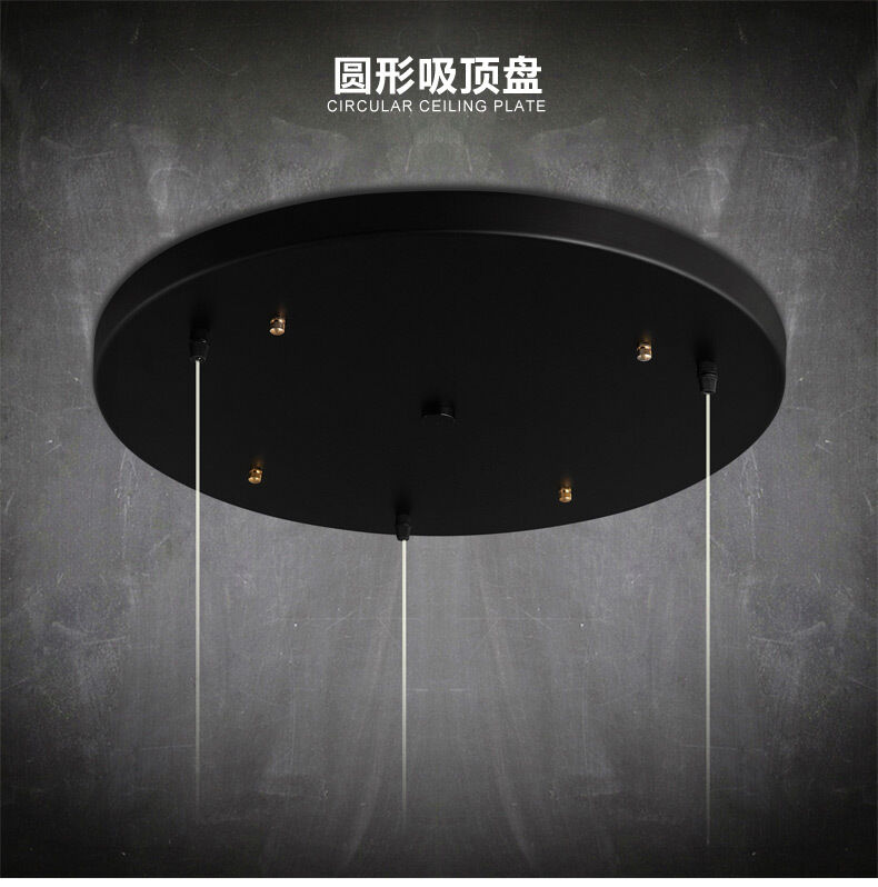 ceiling lamp chandelier plate bar lighting fixture black fini ebay. Black Bedroom Furniture Sets. Home Design Ideas