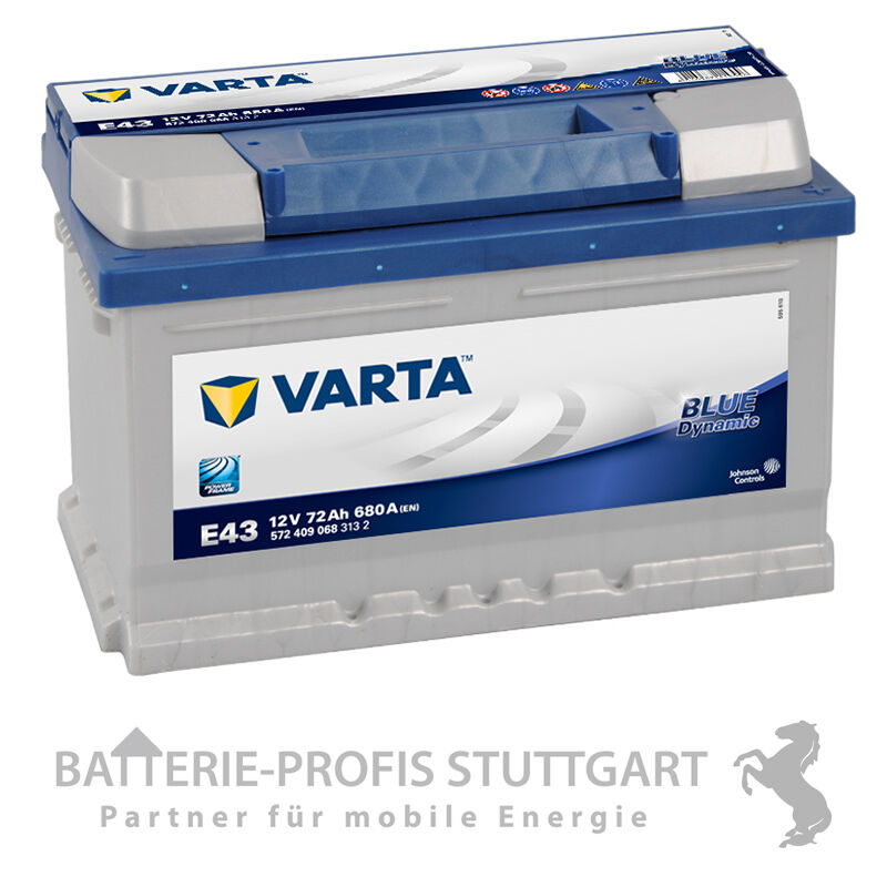 varta autobatterie 12v 72ah 680a e43 ersetzt 66ah 70ah. Black Bedroom Furniture Sets. Home Design Ideas