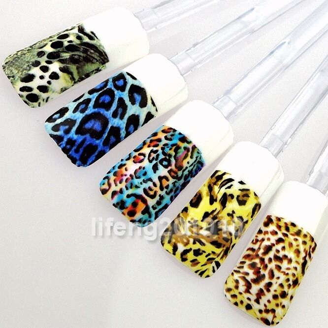 Leopard designs water transfer nail art sticker decals for for Avon nail decoration tool