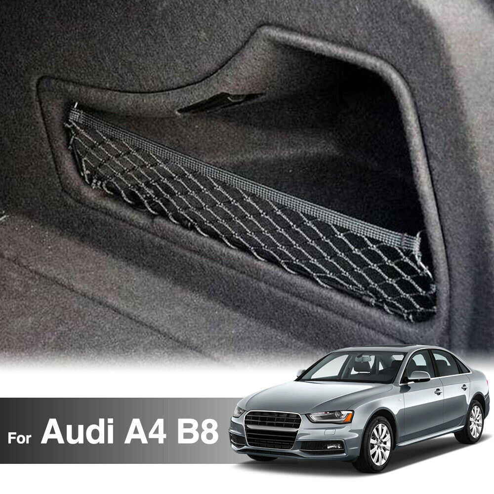 Fit For 09 14 B8 Audi A4 Rear Trunk Side Pocket Cargo Net