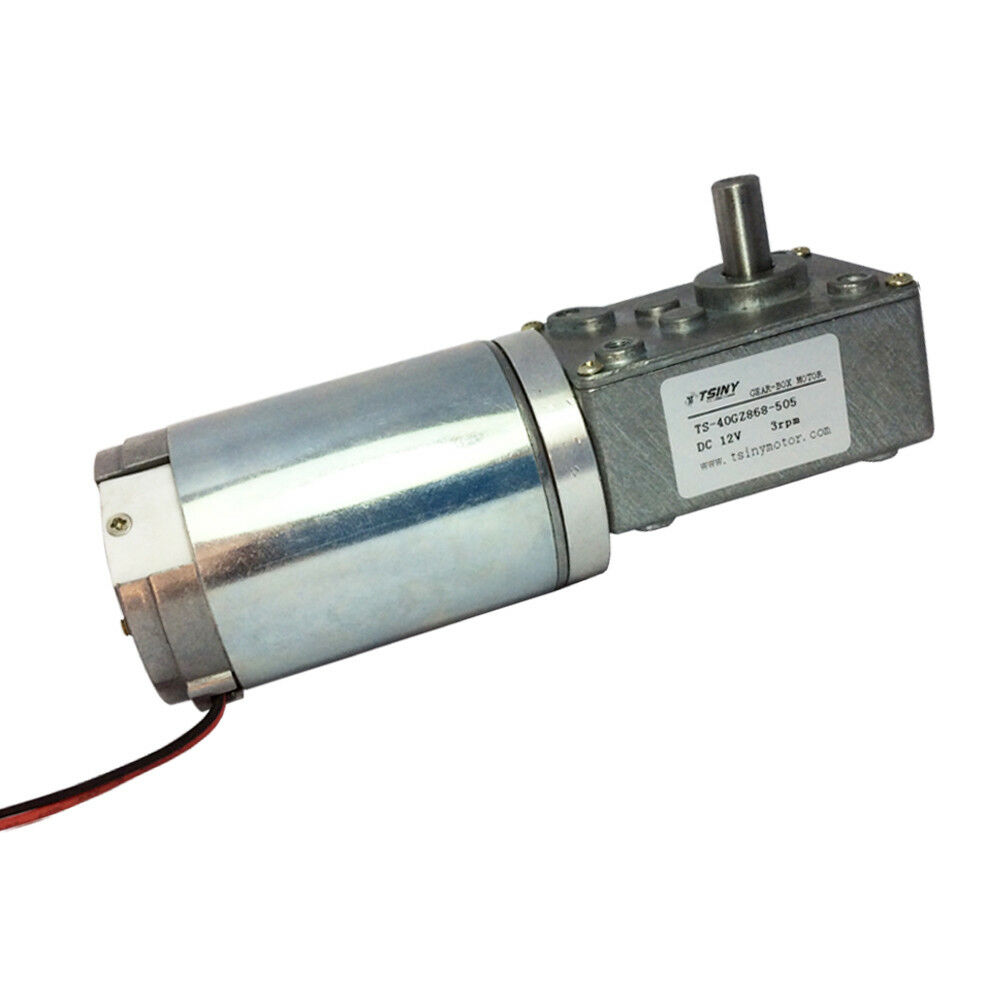 24volt Dc 160rpm High Speed Drive Worm Geared Motor With