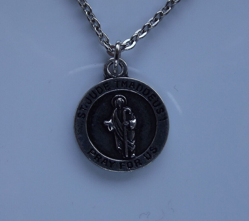 st jude tmaddeus pray for us pendant necklace