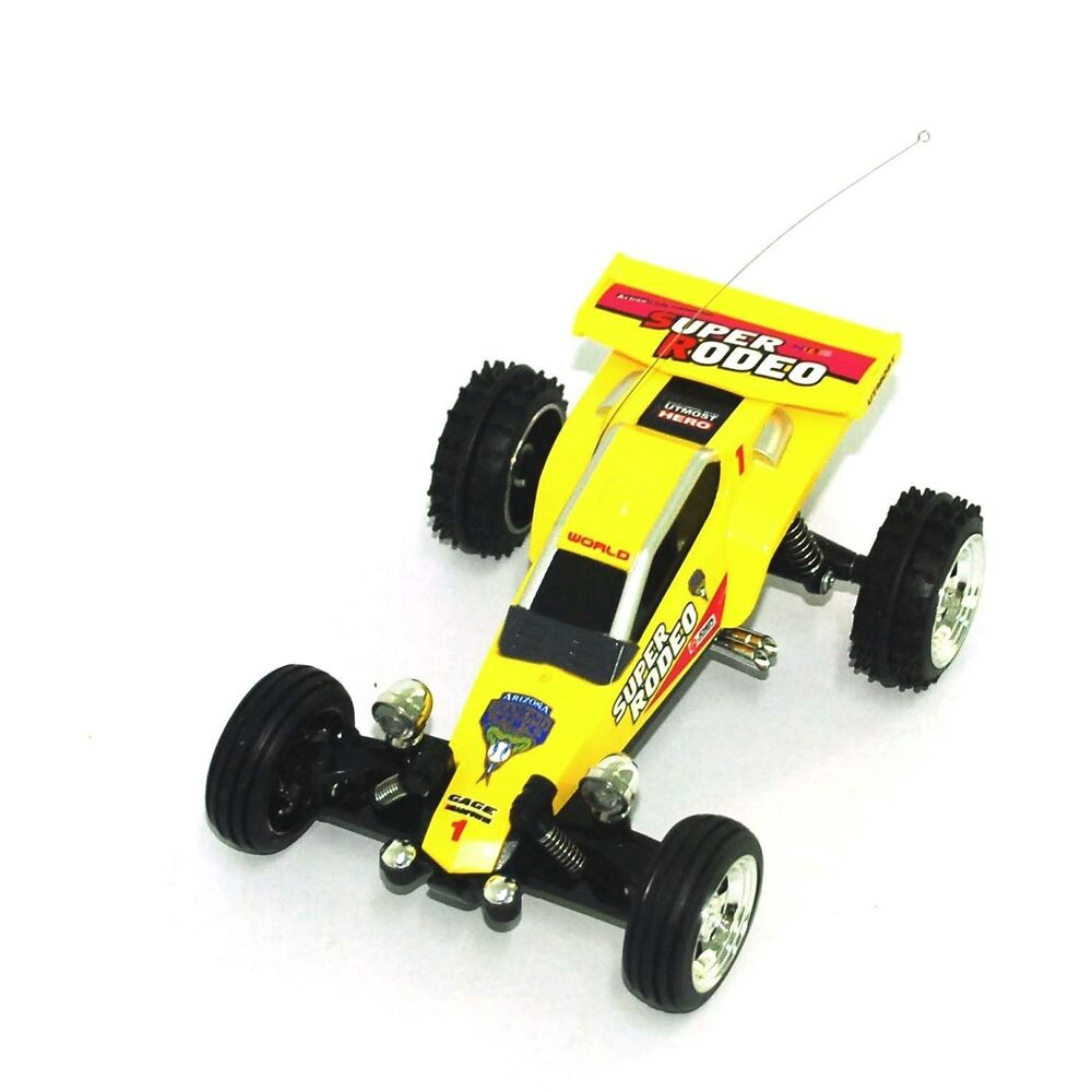 remote control car mini rc kart racing buggy 1 52 yellow color ebay. Black Bedroom Furniture Sets. Home Design Ideas