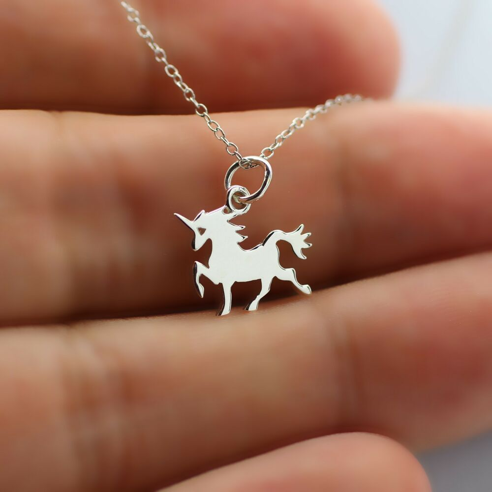 Charm Bracelet Jewelry: TINY UNICORN NECKLACE