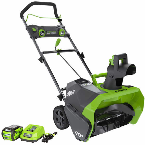 "Electric Snow Shovel >> Greenworks DigiPro (20"") 40-Volt G-MAX Lithium-Ion Cordless Electric Snow Blower 
