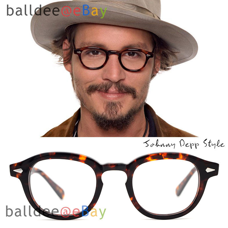 VINTAGE Glasses Black Tortoise Johnny Depp Men Women ...