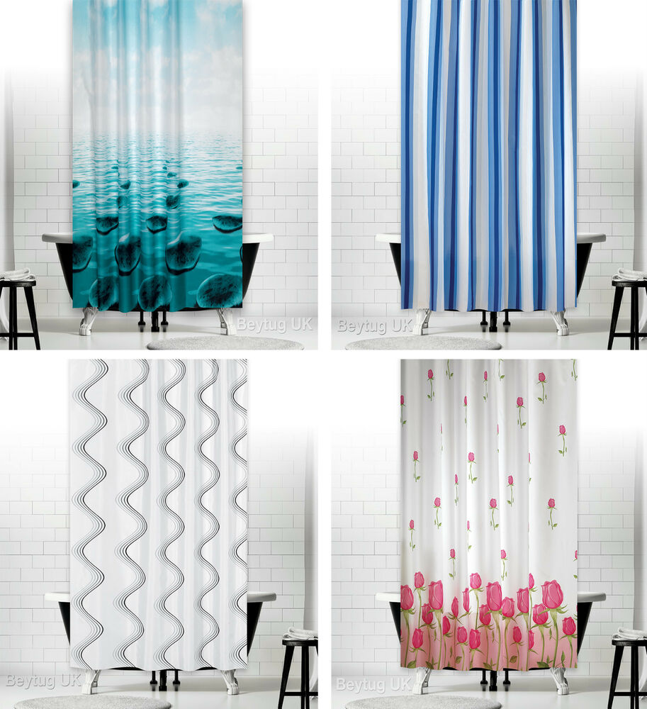 Bathroom shower curtains extra long wide or narrow for Drapes or curtains difference