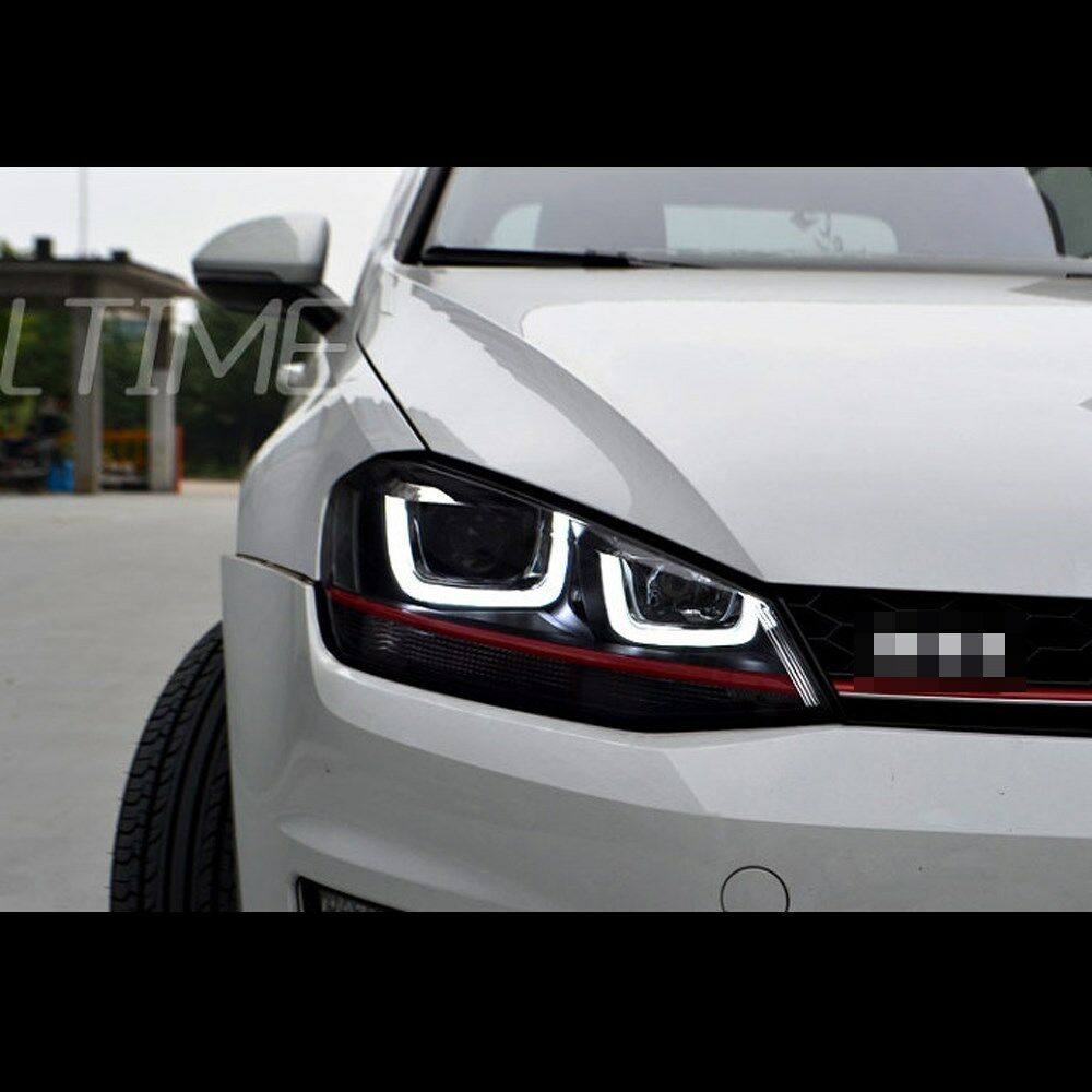 led gti version red line headlight for volkswagen golf 7. Black Bedroom Furniture Sets. Home Design Ideas