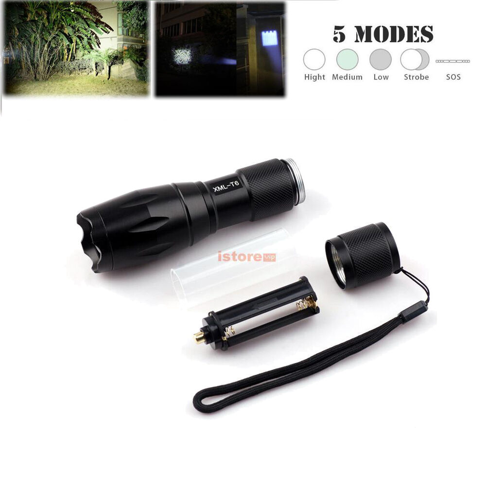 CentBest LED Flashlight Red Beam Cree Zoom Adjustable Focus Torch for Hunting