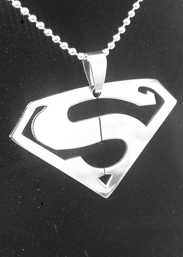 Superman Pendant Necklace 316l Stainless Steel Man Of