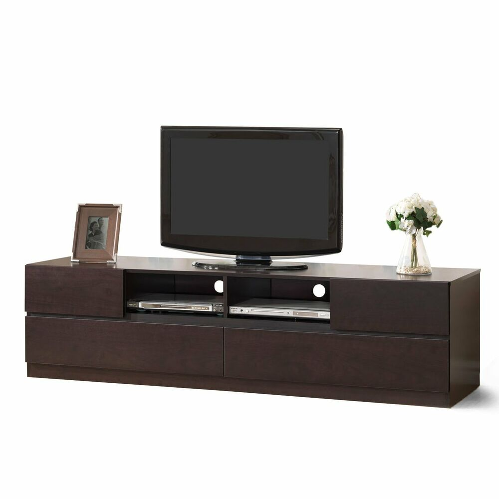 Tv entertainment center wood modern stand storage for Tv furniture