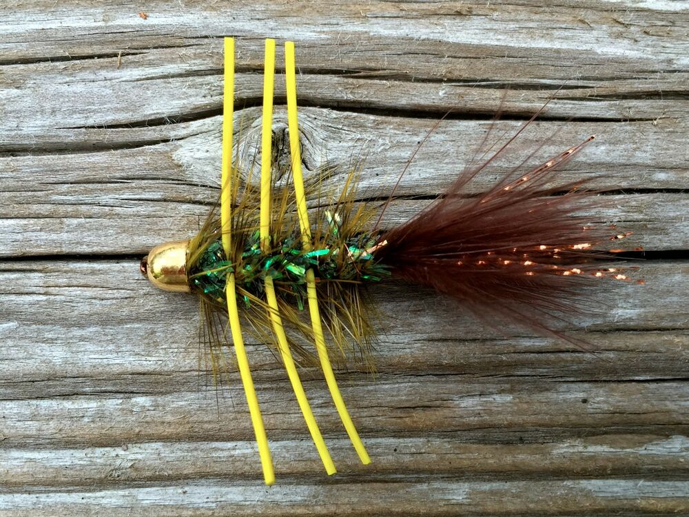 Fly fishing flies bass bream trout salmon conehead for Ebay fly fishing
