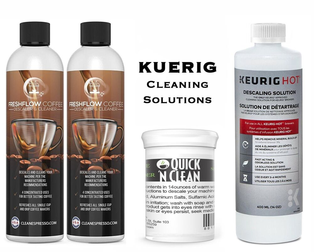 Single Cup Coffee Maker Cleaner : Keurig Descaling Solution 14oz Cleaning Coffee Maker Pod Machine Cleaner Descale eBay