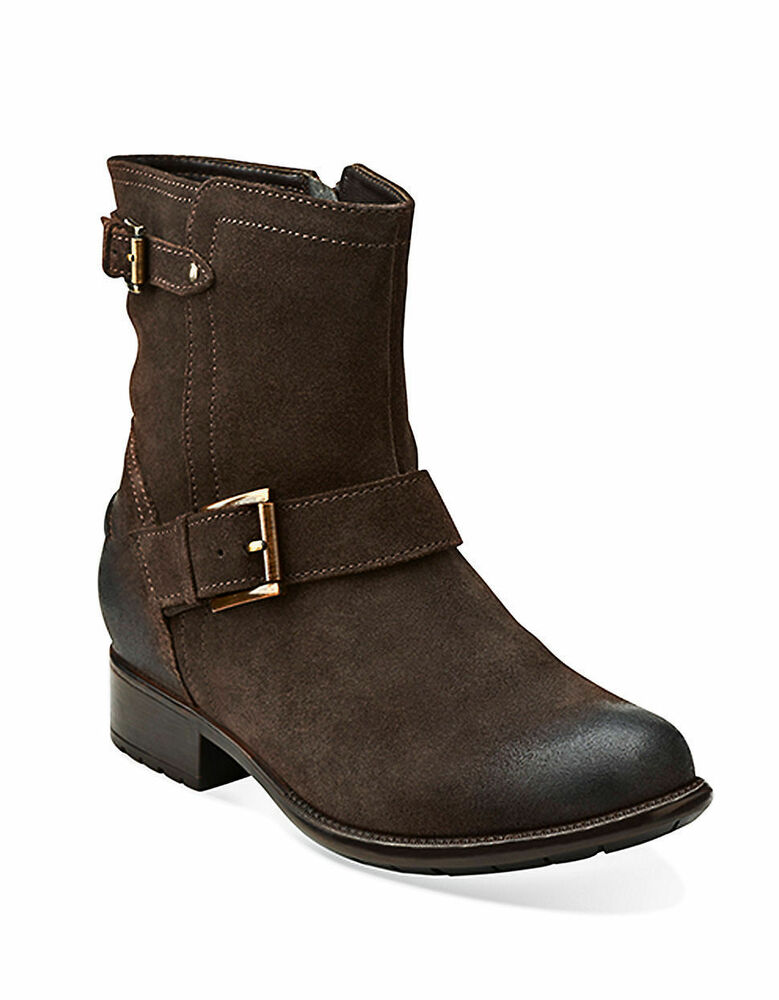 clarks plaza float s brown distressed leather ankle