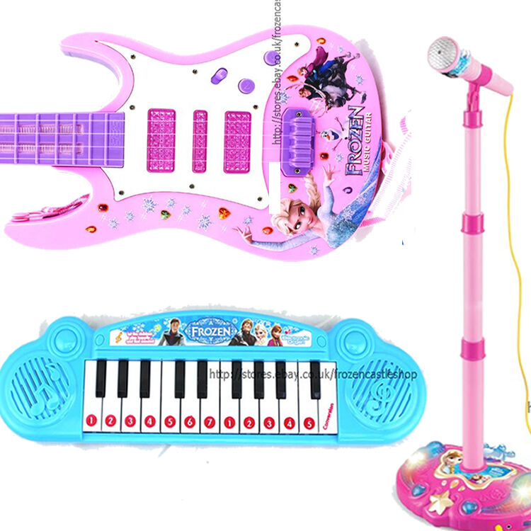 Kids Piano Guitar Mic Microphone Musical Instrument Toys