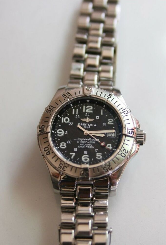 Breitling SuperOcean Chronometre, A17360, Mens, Stainless ...