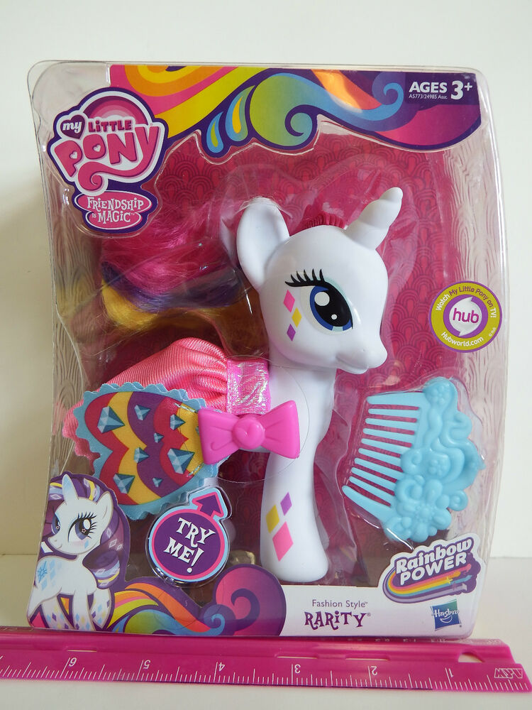 My Little Pony Friendship Is Magic Rainbow Power Fashion Style Rarity Pony Ebay