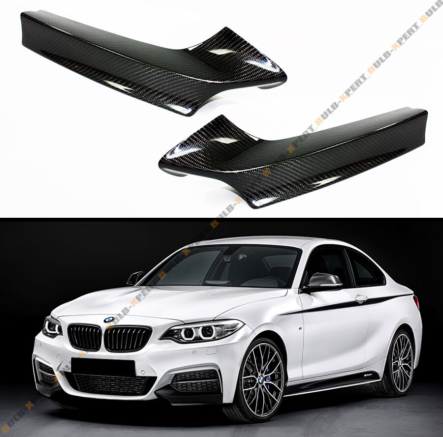 PAIR OF REAL CARBON FIBER FRONT BUMPER SPLITTER KIT FOR