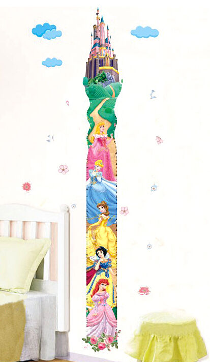 Fairy Disney Princess Wall Height Growth Chart Children's ...