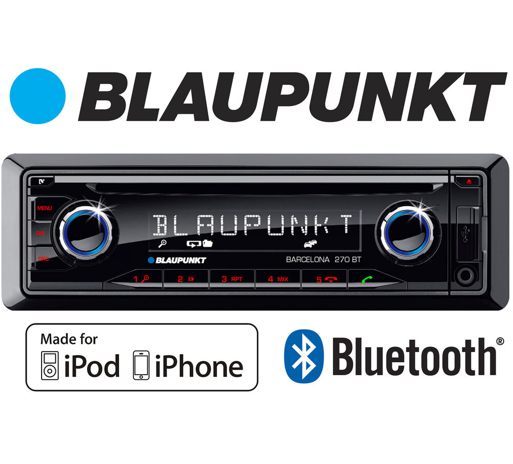 blaupunkt barcelona 230 in car radio stereo cd bluetooth. Black Bedroom Furniture Sets. Home Design Ideas