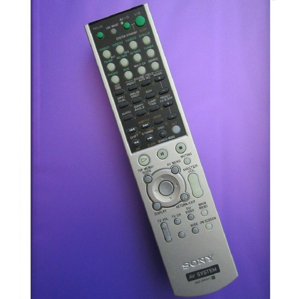 Remote For Sony Rm Pp412 Remote Control Ebay