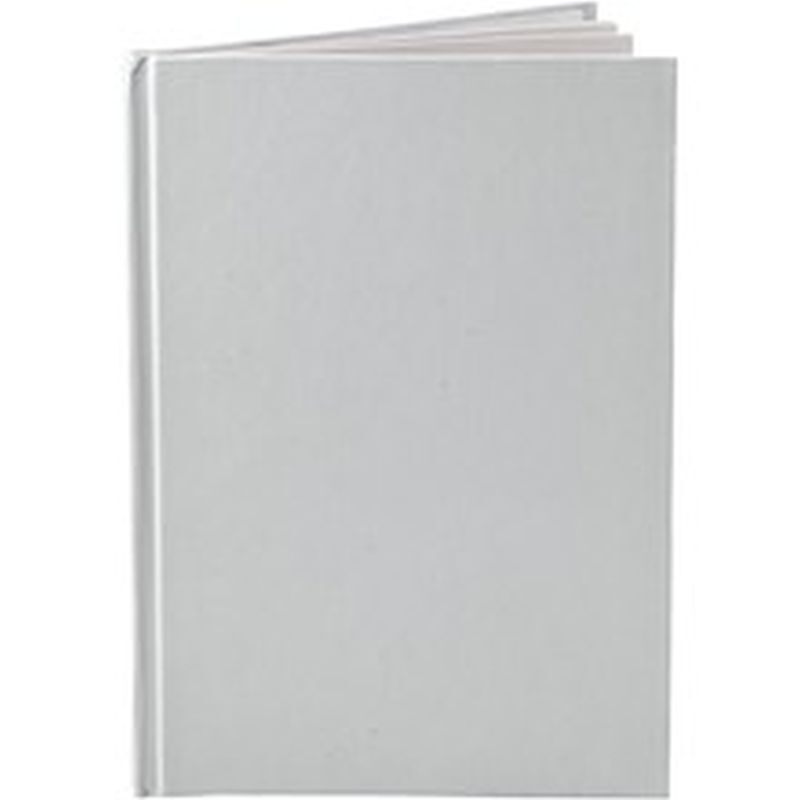 Plain White Book Cover : Plain white notebook a blank pages decorate note
