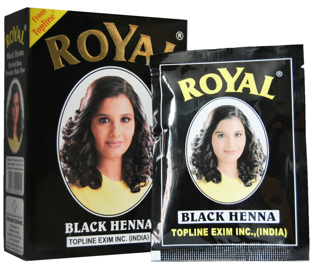 Royal Henna Black Mehndi Powder Hair Dye 60g 6 X 10g Sachets