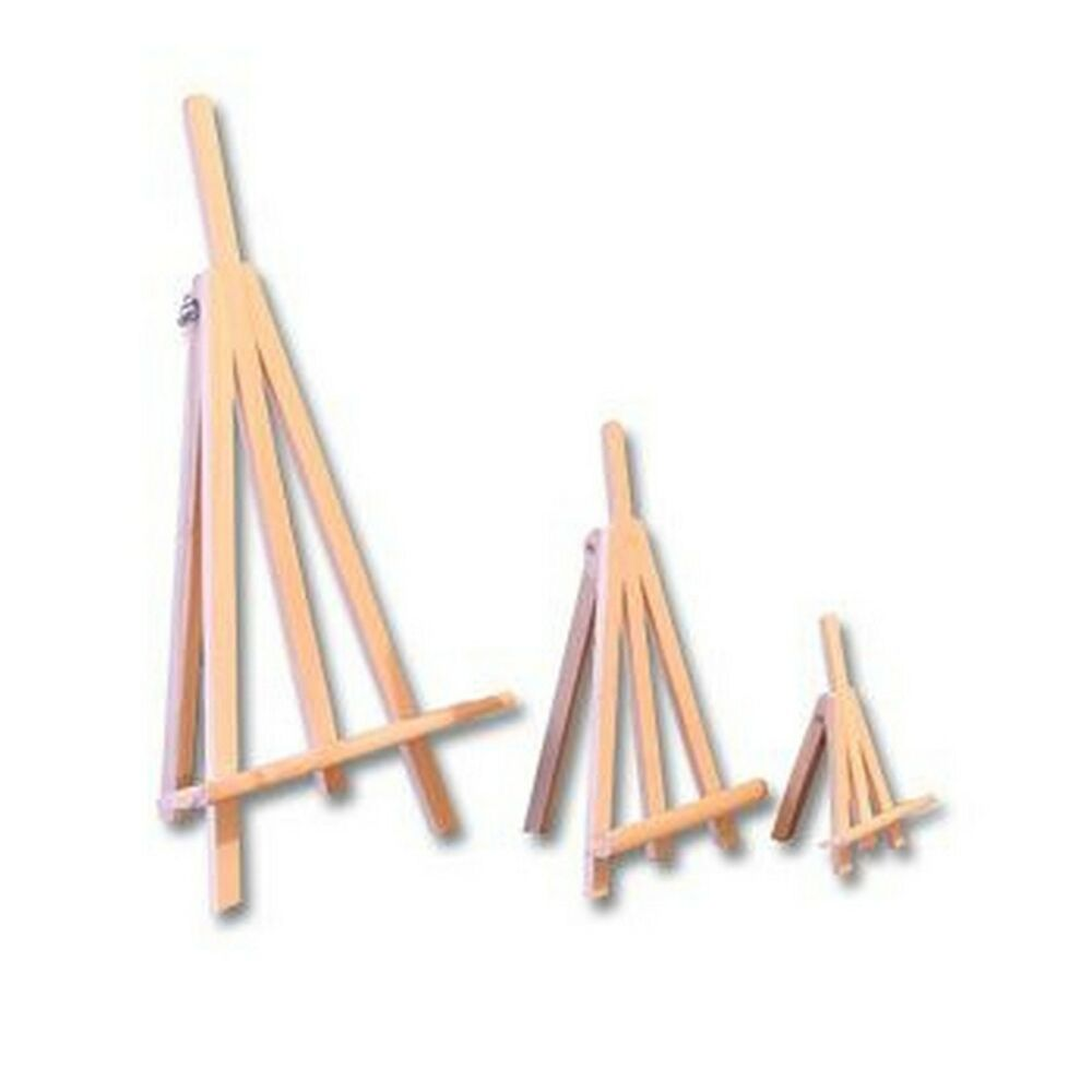 Unpainted Natural Wooden Easel Artwork Display Picture