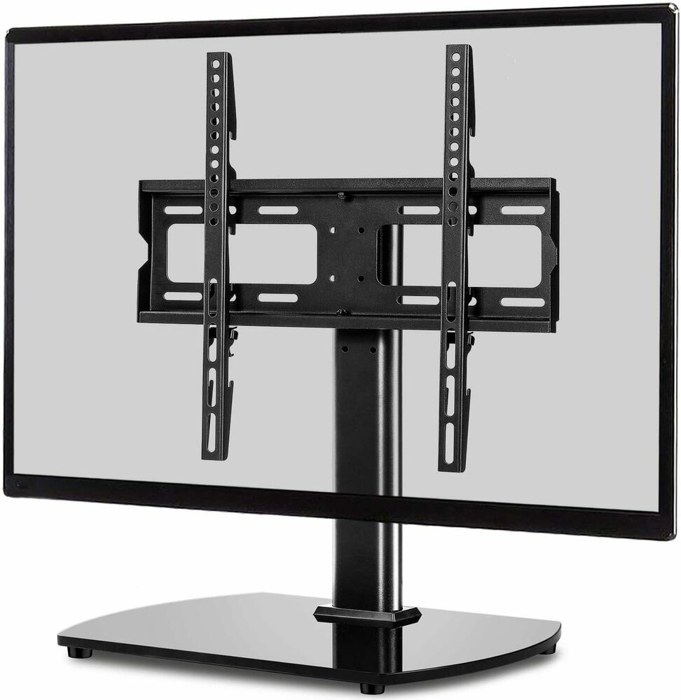 table top replacement tv stand pedestal base fits 26 37. Black Bedroom Furniture Sets. Home Design Ideas