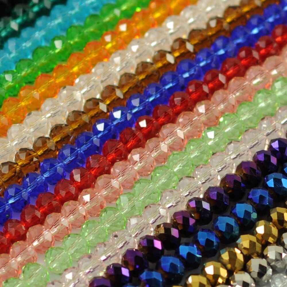 Crystal Bead Beads: Wholesale New Multicolor Crystal Beads Necklace 6x8mm