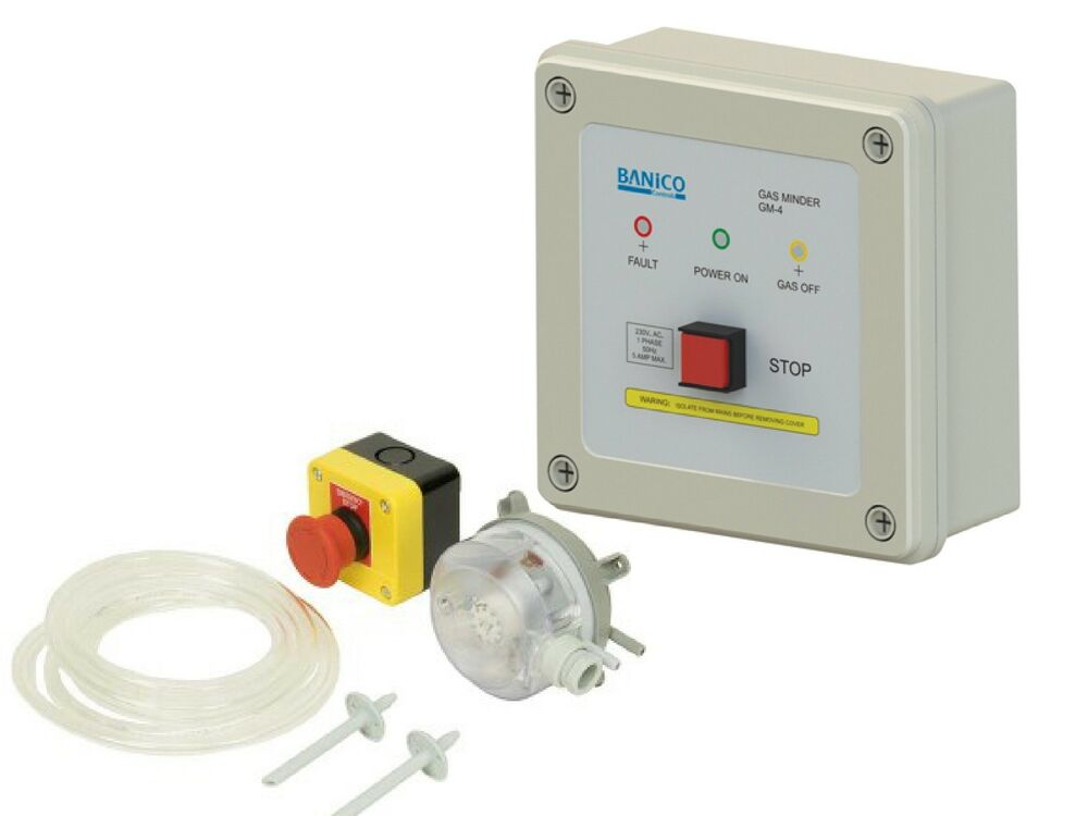 Gas Interlock Control Panel C W Pressure Switch Commercial