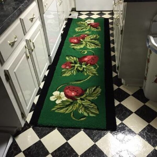 Rug matching strawberry runner hand made 100 wool thick and dense pile ebay - Rugs and runners to match ...