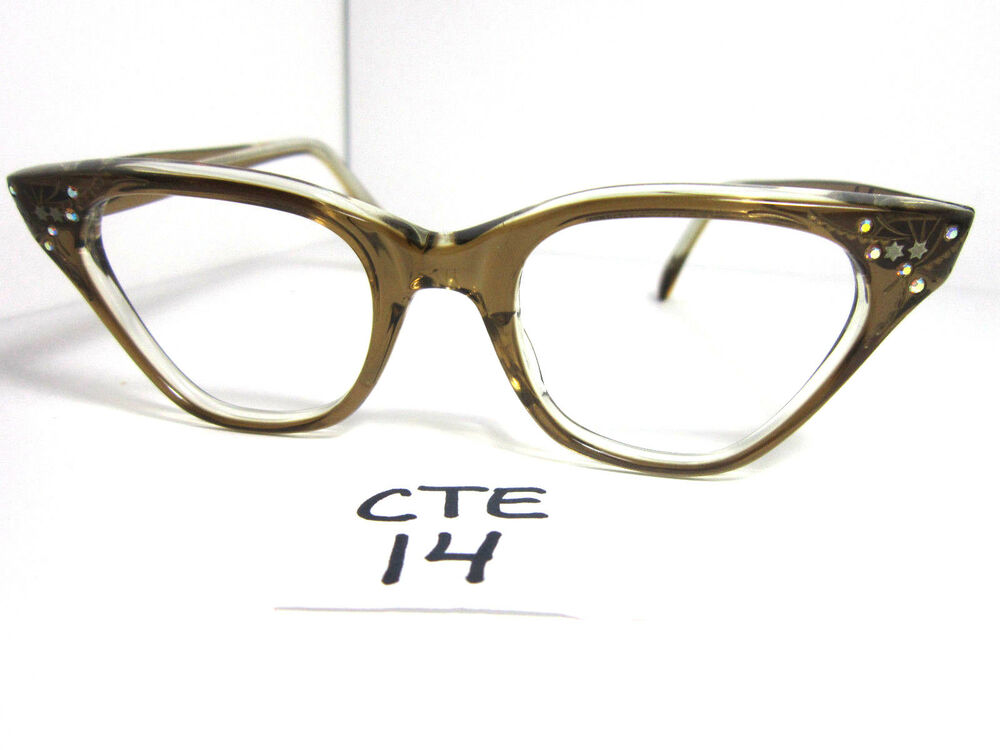 Authentic Vintage Medium Fit 1950s/60s Cat Eye Eyeglass ...