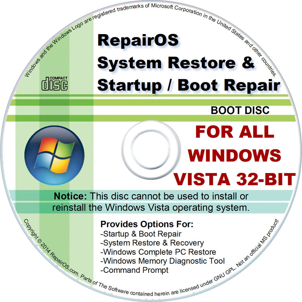 Windows vista recovery disc bootable usb