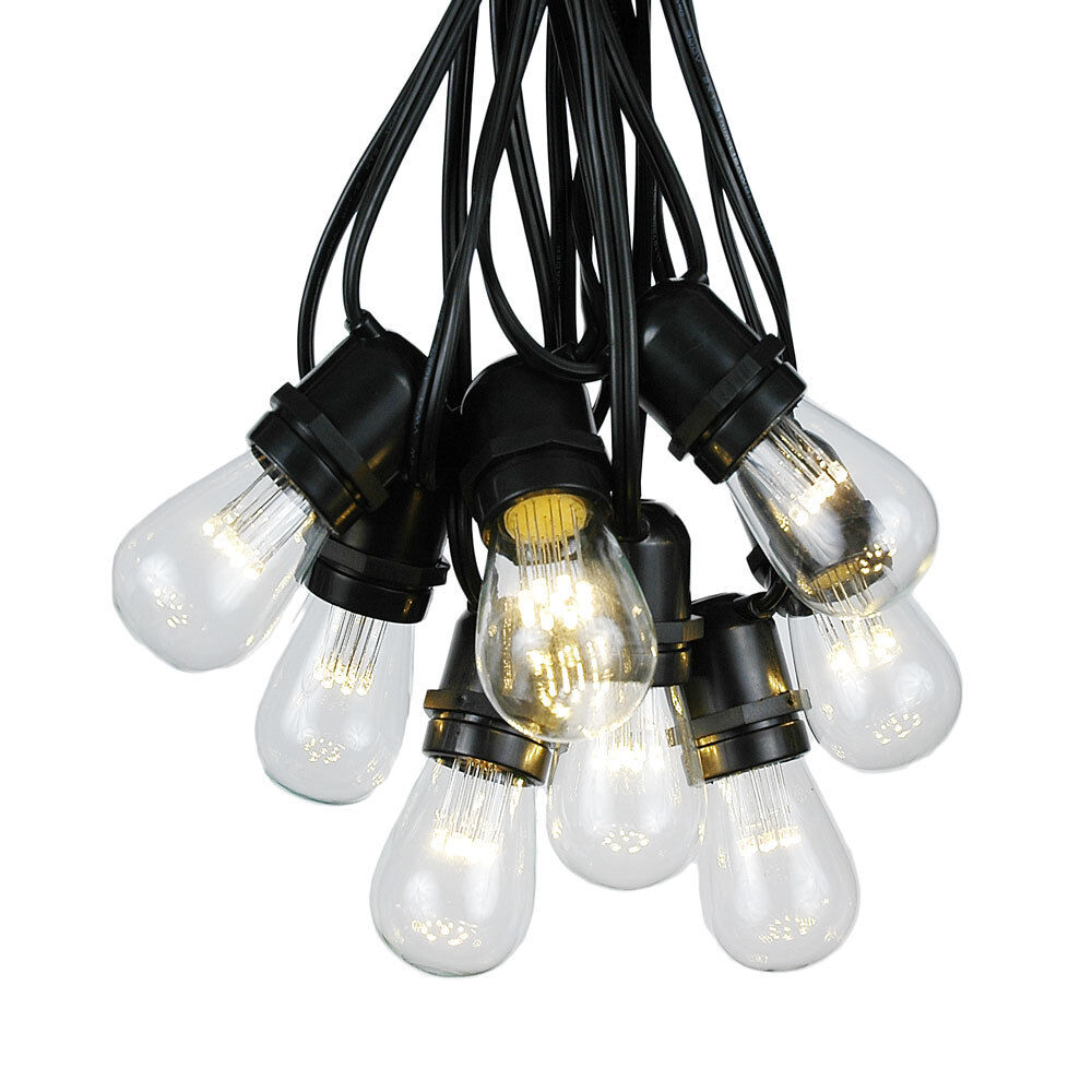Edison Globe String Lights : 37.5 Foot S14 LED Outdoor Globe String Lights - Set of 25 S14 LED Edison Bulbs eBay