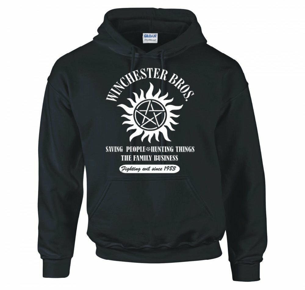 Supernatural winchester bros family business hoodie new ebay