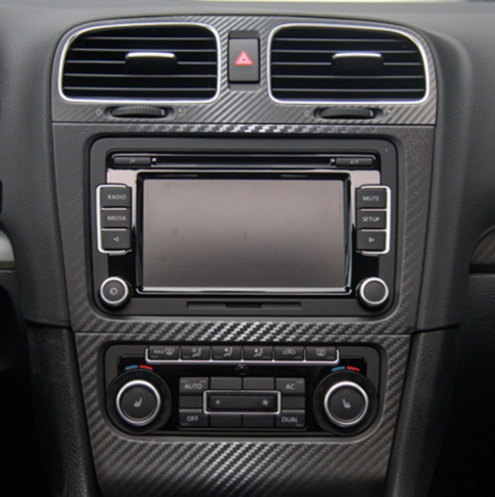 f nfteilig set carbon folie f r cockpit vw golf 6 gti tdi gtd tsi r line ebay. Black Bedroom Furniture Sets. Home Design Ideas