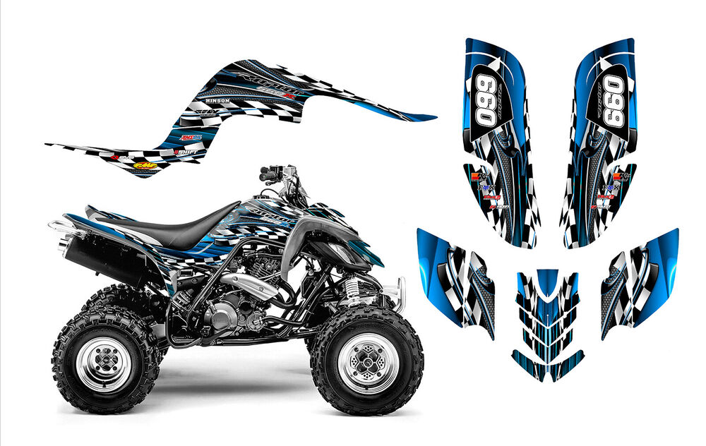 raptor 660 graphics yamaha 660r atv custom sticker kit. Black Bedroom Furniture Sets. Home Design Ideas