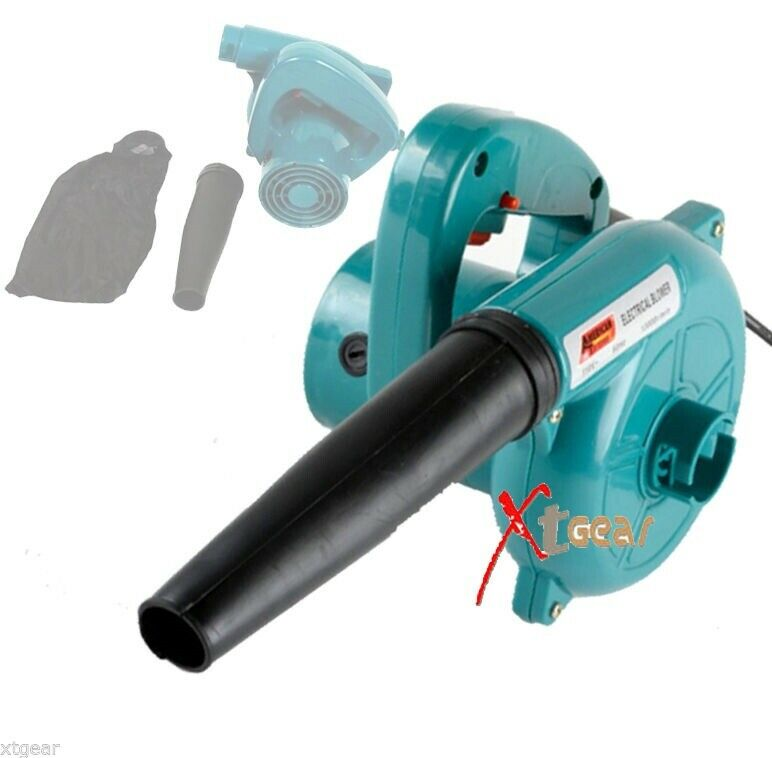 Electric Leaf Blower : Electric leaf blower handheld vacuum action dust cleaning