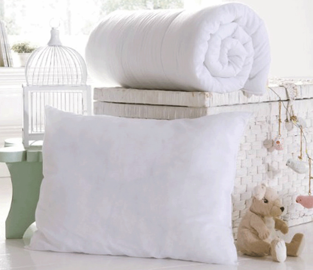 ANTI ALLERGY COT BED DUVET QUILT PILLOW NURSERY BABY