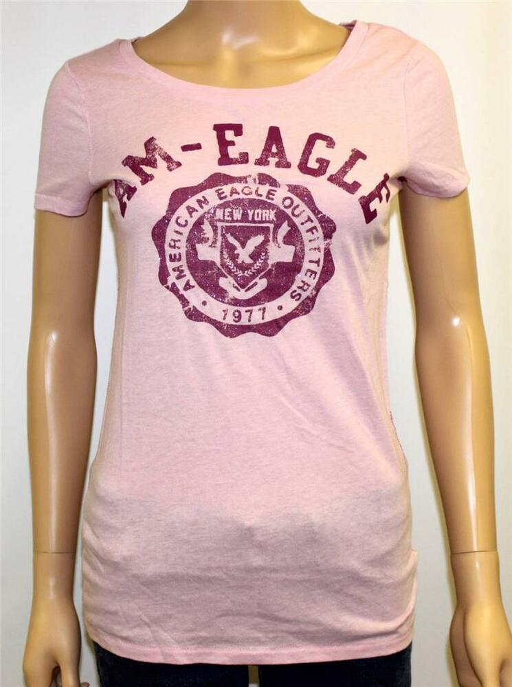 American Eagle Outfitters Aeo Am Eagle Graphic Tee Womens