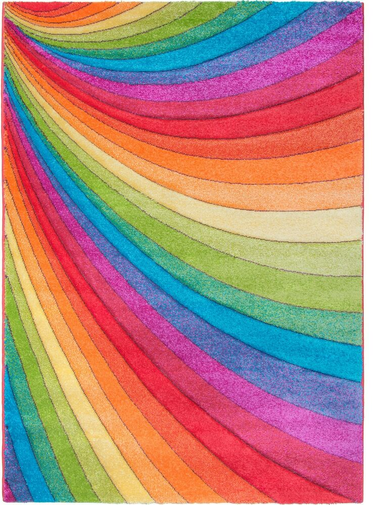 Multi Colour Rainbow Rug Mat Runner Living Room Bedroom