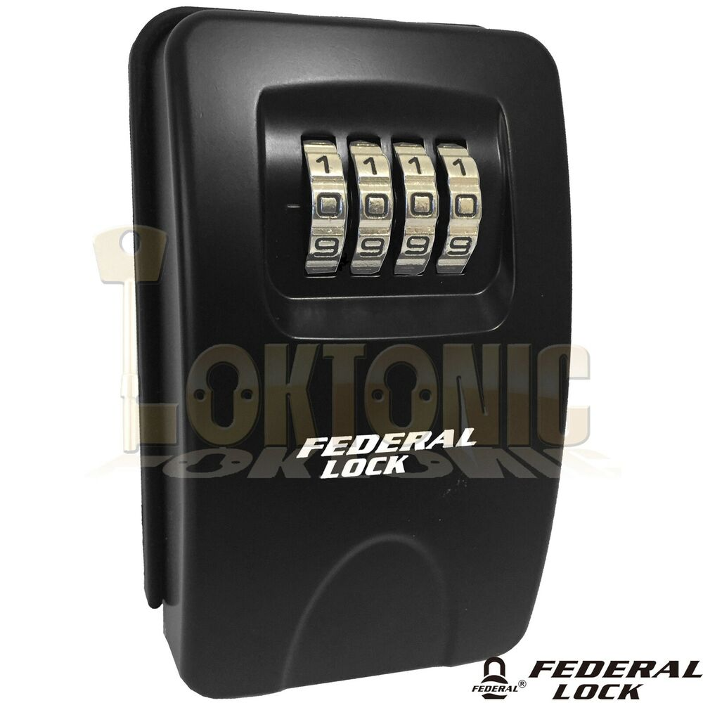 federal outdoor high security home wall mounted combination key safe lock box ebay